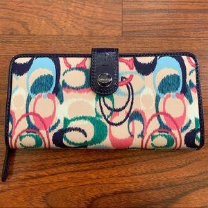Coach multi-color wallet